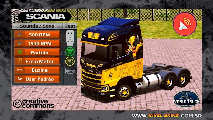 Sons World Truck Driving - Scania S730 - Som V8 Diretão da Scania S