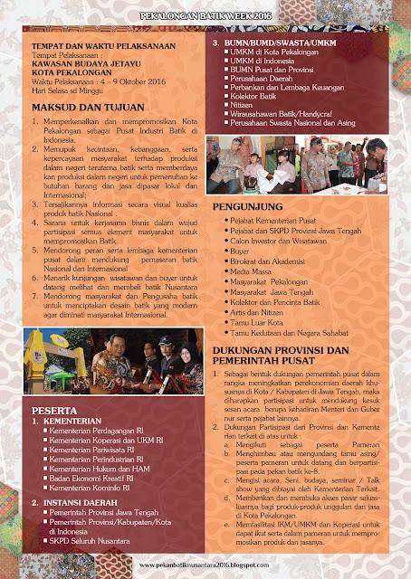 Peserta Pekalongan Batik Week 2016 atau Pekan Batik Nusantara 2016