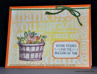 fall, Basket of Wishes, Stampin' Up!, Stamp with Trude, Tuesday Tutorial, friendship, thank you