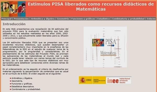 http://recursostic.educacion.es/inee/pisa/matematicas/index.htm