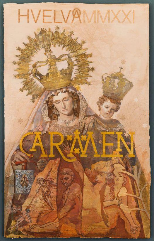 Cartel anunciador de la Hermandad Ntra. Sra. Del Carmen 2021 de Huelva