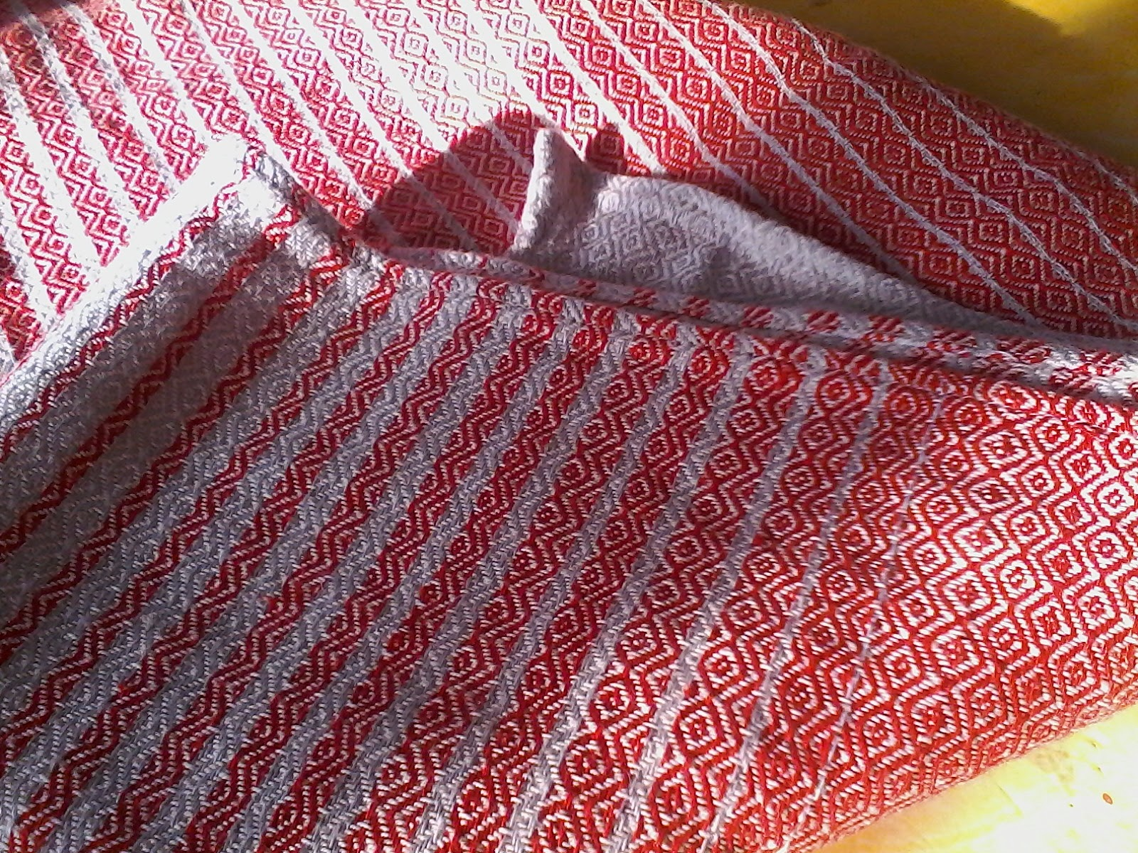hilla slings wrap diamond weaving pattern écharpe coton lin bambin handwoven