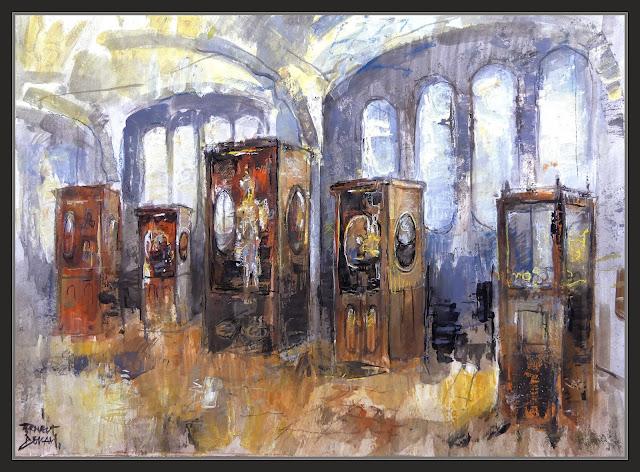 TIBIDABO-BARCELONA-PINTURA-ART-MUSEU-AUTOMATS-INTERIOR-JOGUINES-MECANIQUES-PINTOR-ERNEST DESCALS