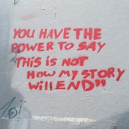 StreetArt Quote des Tages : You have the Power to say...