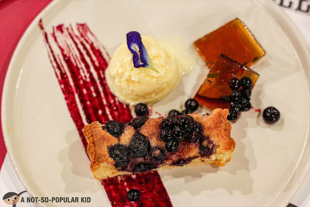 Canadian Glaze Ice Wine Blueberry in a Frangipane Tart