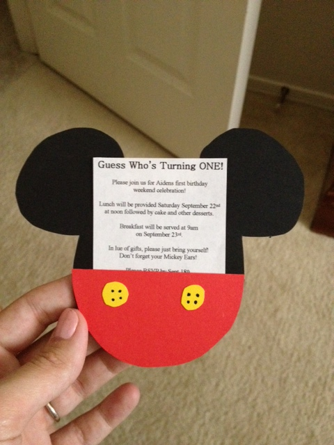 These Invitations Are Adorable No Matter How Old Your Child Is Turning Stay Tuned For The Whole DIY Portion Of A Mickey Mouse Birthday Party Coming Late