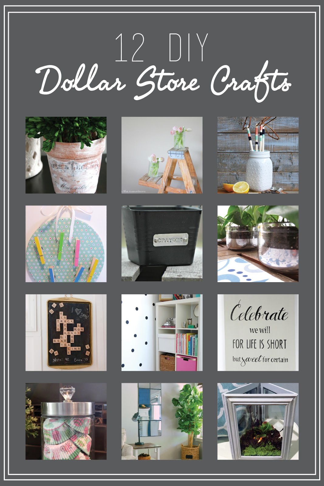 12 DIY Dollar Store crafts