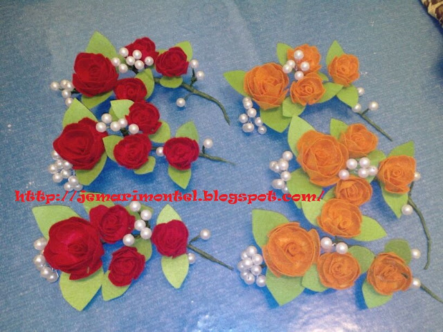 Wedding Roses, Felt, Craft