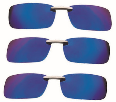 Anti-UVA Sunglasses: Metal Frame Clip On Polarized Unisex Sunshade Glasses