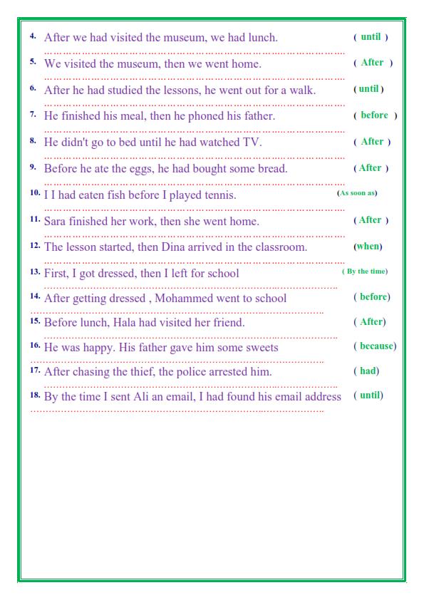 مراجعة قواعد اللغة الإنجليزية للصف الثالث الاعدادي الترم الثاني في 14 ورقة تحفة 4_012
