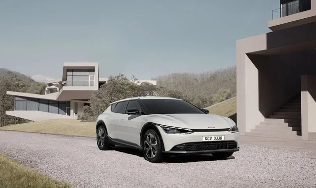 Kia shows first pictures of the EV6 electric vehicle