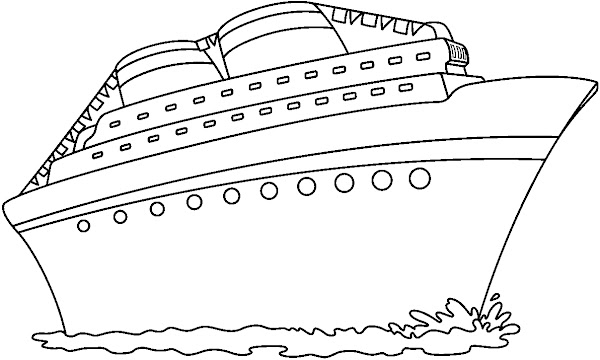 Disney cruise line coloring pages for Cruise ship coloring page