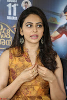 Rakul Preet Singh smiling Beautyin Brown Deep neck Sleeveless Gown at her interview 2.8.17 ~  Exclusive Celebrities Galleries 066.JPG