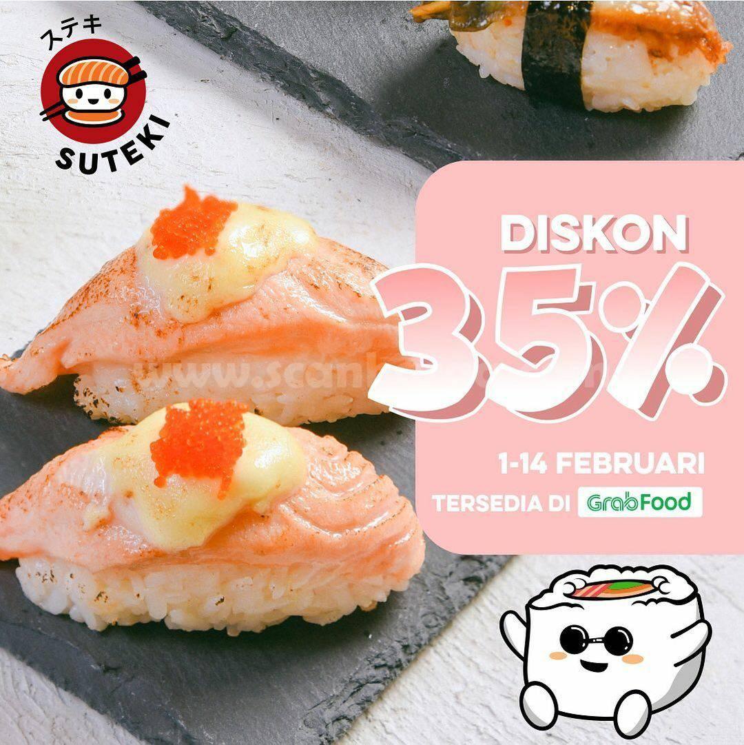 SUTEKI SUSHI Spesial Promo GRABFOOD! Diskon hingga 35%