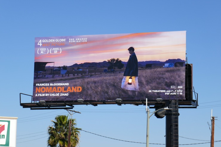 Nomadland film billboard