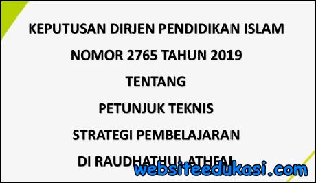 Juknis Strategi Pembelajaran RA Tahun 2019