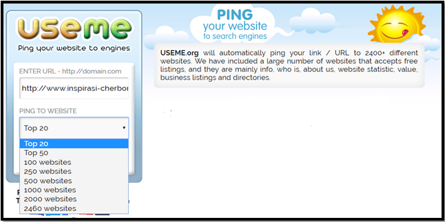 Useme Site Backlink Gerator and Ping Url