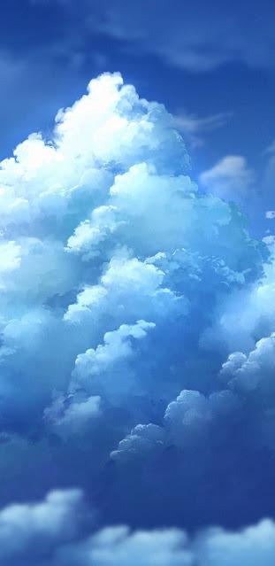 Mây trắng trên bầu trời xanh