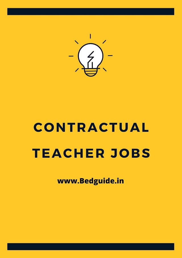 Contractual Teachers Jobs For B.ed Students