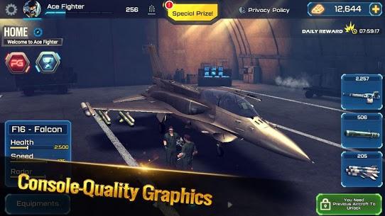 تحميل لعبة Ace Fighter مهكرة للاندرويد