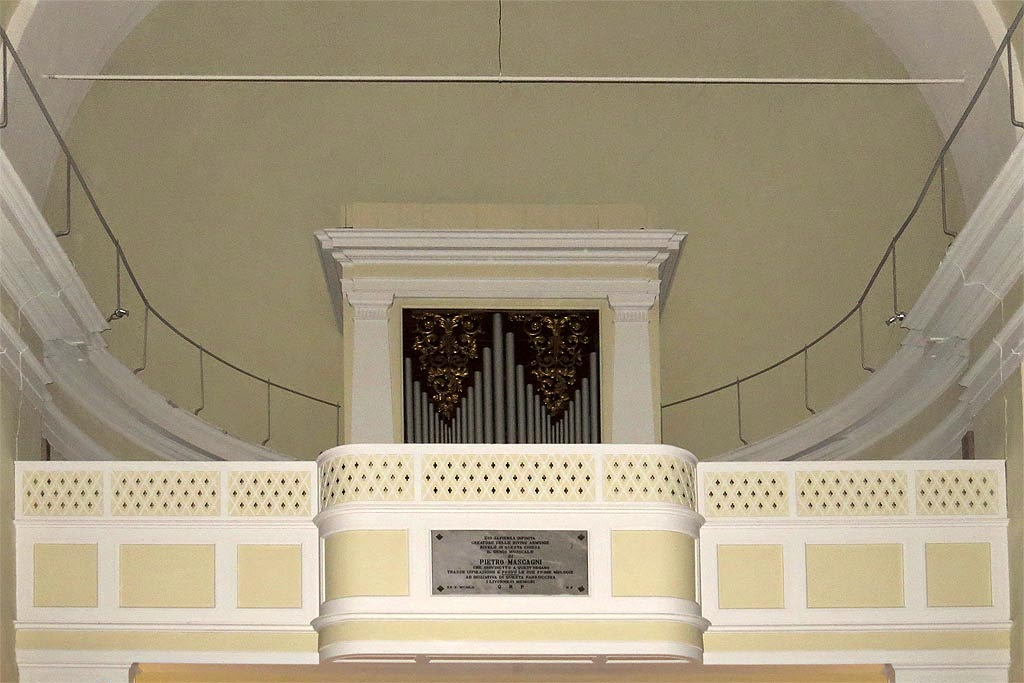 Mascagni's organ, church of San Benedetto, Livorno