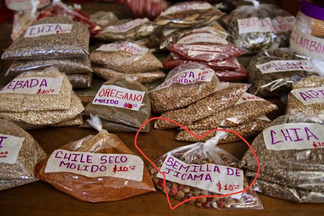 Jicama seeds, valladolid market, yucatan, mexico
