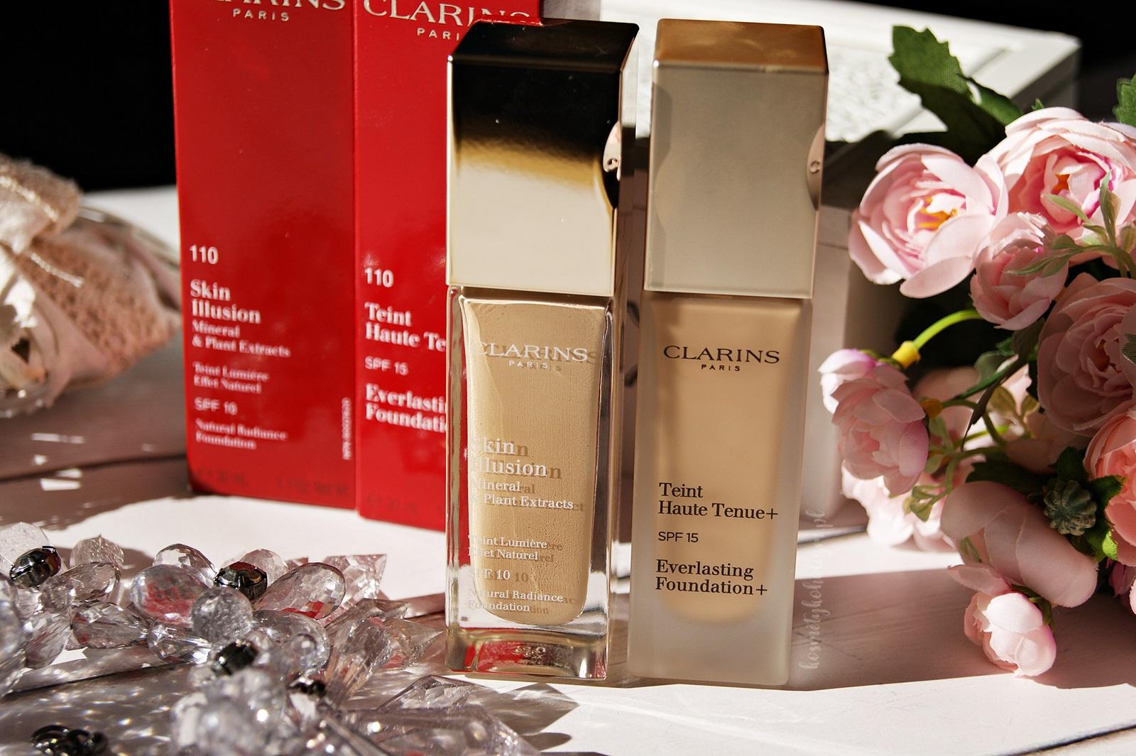 CLARINS | Skin Illusion | Everlasting Foundation | Porównanie podkładów
