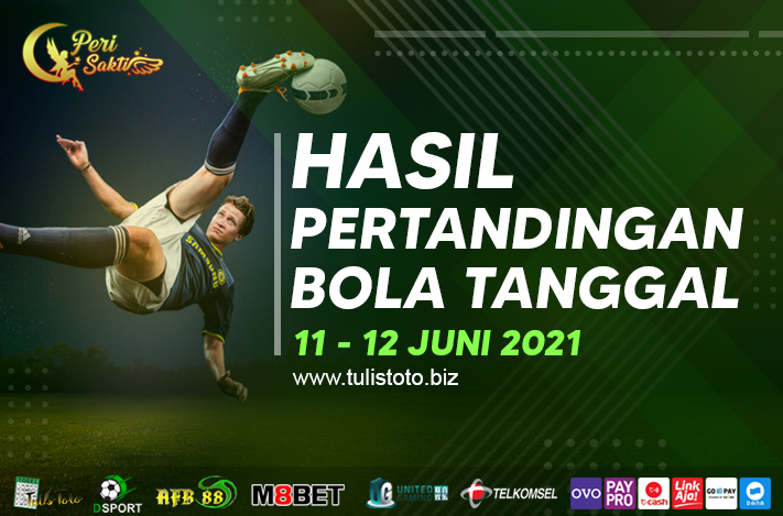 HASIL BOLA TANGGAL 11 – 12 JUNI 2021