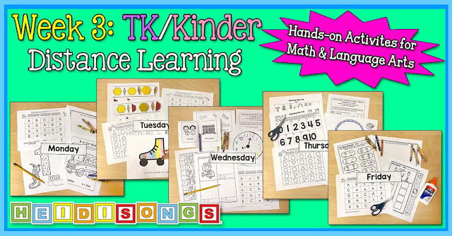 Week 3 TK K Distance learning packet