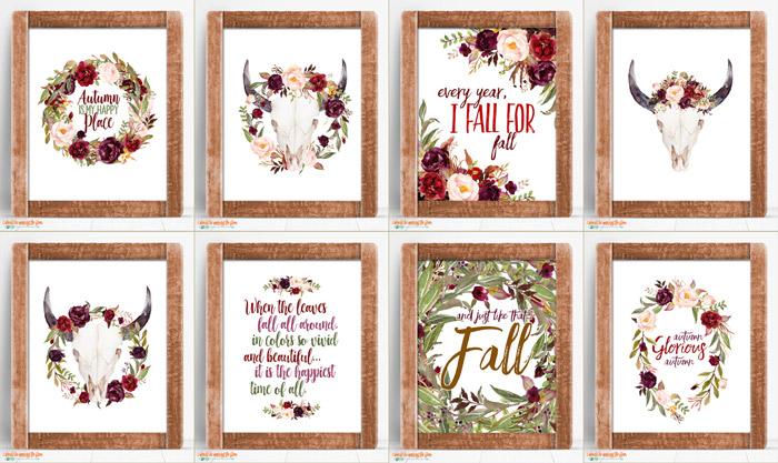 Fall Boho Printables