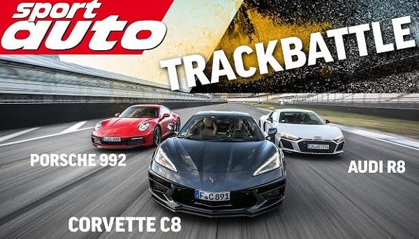 Chevrolet Corvette C8 vs Porsche 911 vs Audi R8