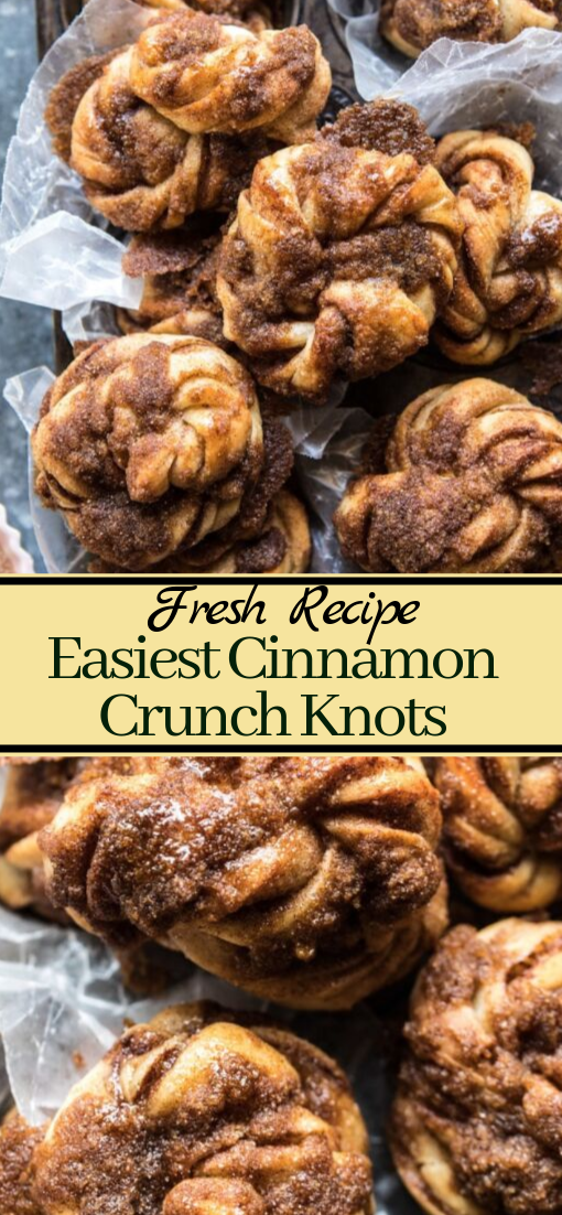 Easiest Cinnamon Crunch Knots #desserts #cakerecipe #chocolate #fingerfood #easy