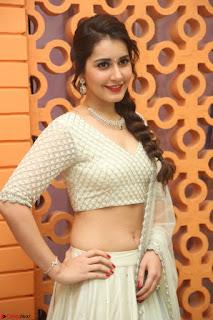 Raashi Khanan looks stunning in Crop Top Deep neck Choli Ghagra Transparent Chunni WOW ~  Exclusive Celebrities Galleries 081.JPG