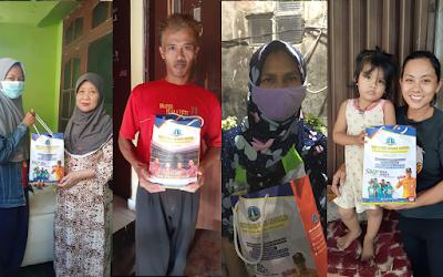 Penyaluran Zakat Fitrah Ramadhan 1442 H - Rohis SMK TI Bali Global Badung