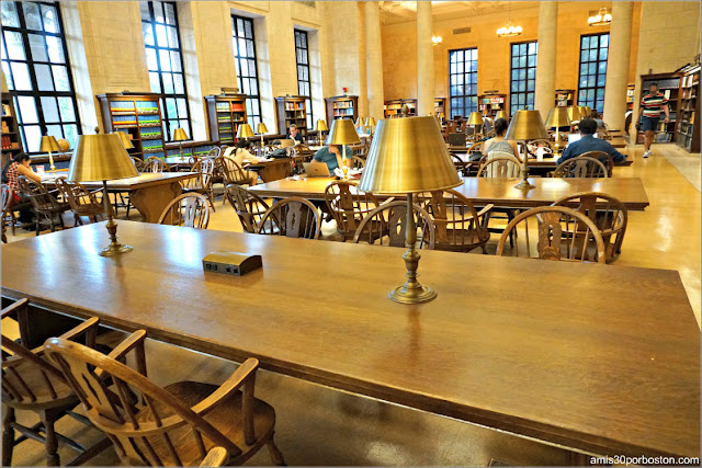 Atkins Reference Room en la Biblioteca Widener, Universidad de Harvard