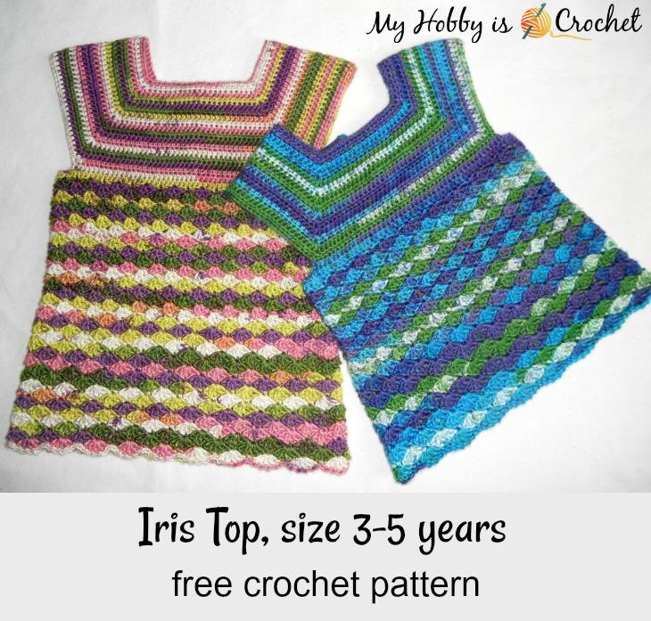 Iris Top - Free Crochet Pattern on myhobbyiscrochet.com