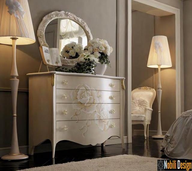 Mobilier_italian_dormitor_pret | Dormitoare_clasice_albe_Italia_Calarasi.