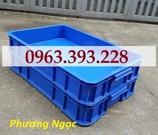 Thùng đặc công nghiệp HS025, sóng nhựa bít cao 10 cm, khay nhựa đặc có nắp Tdhs025.5