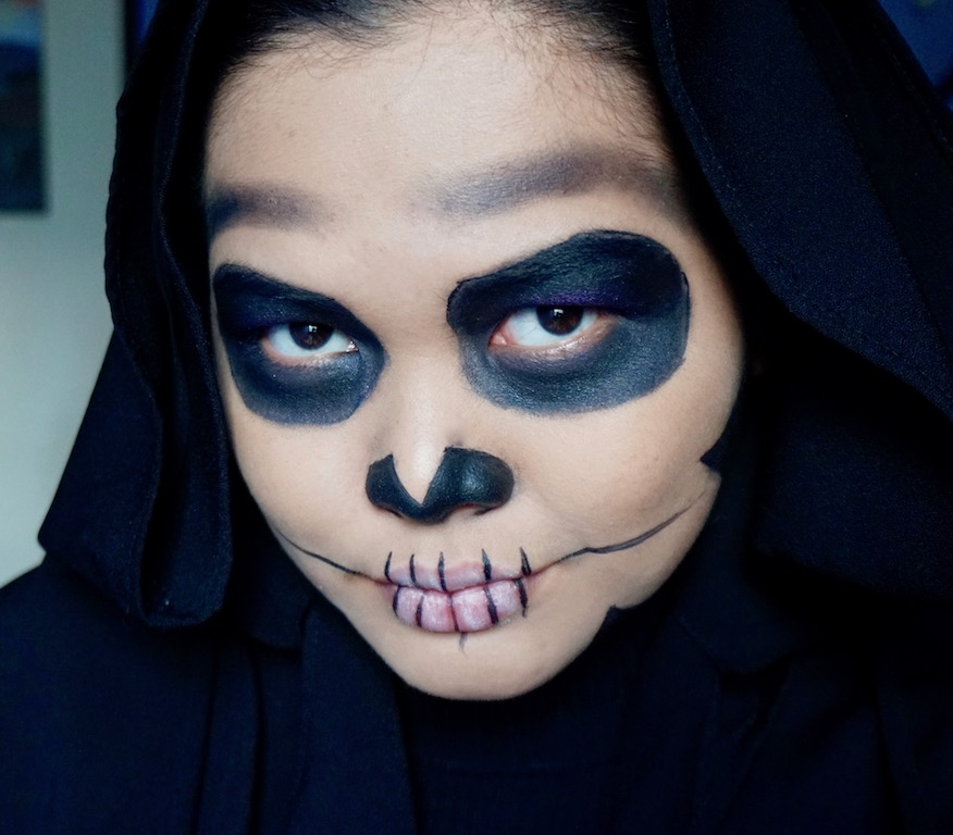 Easy Halloween Makeup Tutorial: 3 Products Skull Makeup + Youtube ...