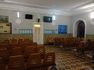 Миргород. Железнодорожный вокзал. Керамическая облицовка стен в здании вокзала