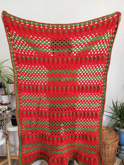 Crochet Strawberry Afghan