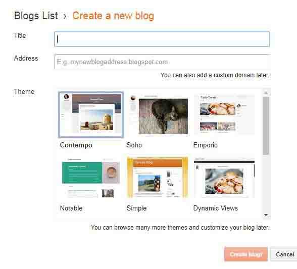 How to Create a Professional Blogger Blog in Hindi