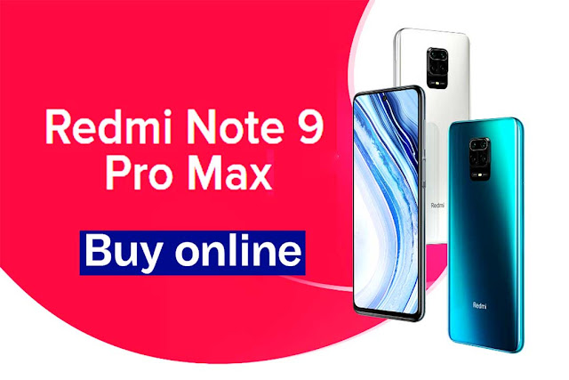 Xiaomi Redmi Note 9 Pro Max अमेज़न / Mi India पर ऑनलाइन खरीदें।
