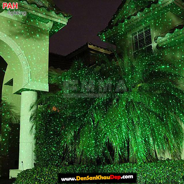 Hiệu ứng đèn chiếu laser sân vườn