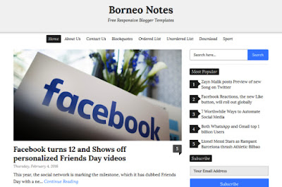 Borne Note - Simple & Clean