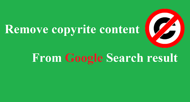remove copyright content from Google search results