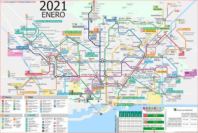 metro map barcelona spain