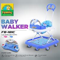 Baby Walker Family FB181C Cow Musik Mainan Bisa Dilepas 2 in 1 Alat Belajar Jalan & Dorongan Bayi