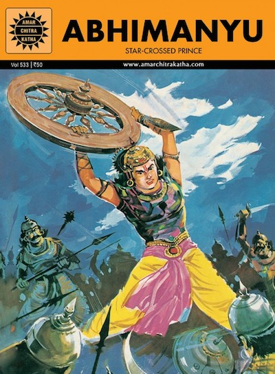 Indian Epics Amar Chitra Katha Guide Abhimanyu