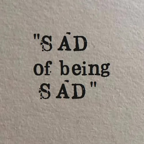sad of being sad DP for girls